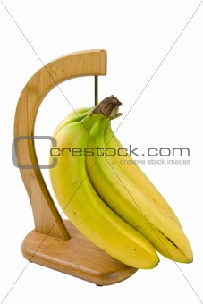 a bunch of bananas isolated on white