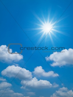 Bright blue sky Horizontal