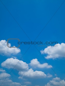 Blue sky and white cloud Horizontal