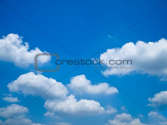 Blue sky and white cloud Landscape