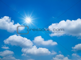 Bright blue sky Landscape