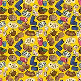 seamless cartoon casino pattern