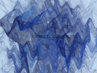 Wavy Fractal Background in Shades of Blue