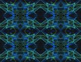 Seamless Pattern in Blue, Green and Black