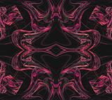 Continuous Fractal Textile Pattern in Pinks