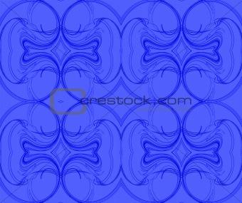 Blue Continuous Fractal Pattern