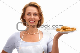 Woman with cookies