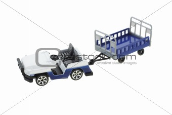 Airport baggage transporter