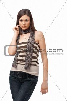 Young Girl Posing.