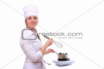 Beautiful cooking woman