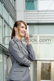 Smiling business manager woman