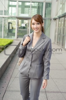 Smiling business manager