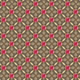 Seamless gold background with gems