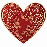 Jewelry gold heart