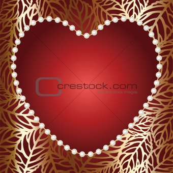 Jewelry gold heart frame