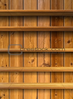 Five Wood Shelf
