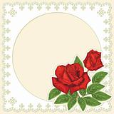 Decorative frame with roses