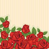 Decorative card with roses