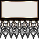 Lace vintage frame