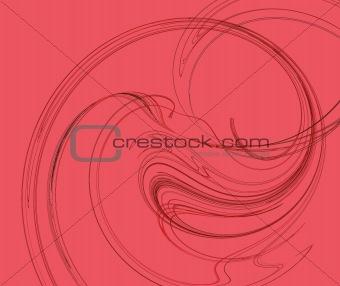 Fractal Swirl in Red