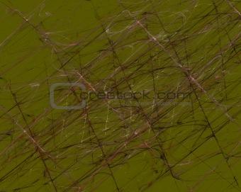 Olive Green Grunge Fractal Pattern