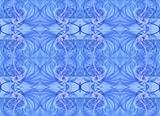 Pastel Blue Seamless Textile Fractal Pattern