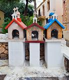 Street altar in Greece