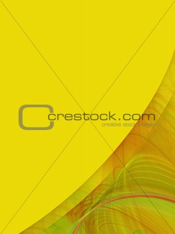 Yellow Copy Space With Corner Design