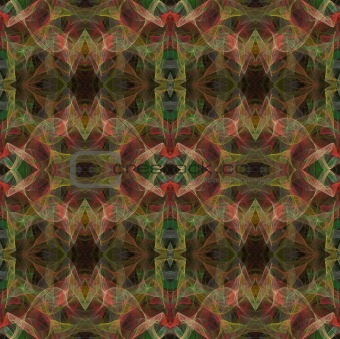 Seamless Fractal Pattern in Pinks and Greens