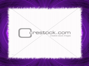 Purple Fractal Border with White Copy Space