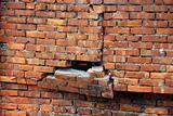Rupture of red brick