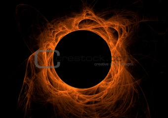 Orange Fractal Eclipse