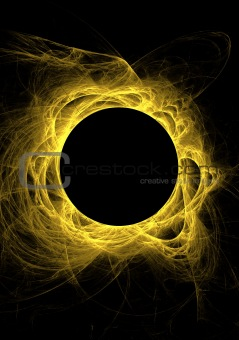 Yellow Fractal Eclipse