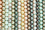 a lot of pearl beads close up