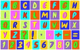 Multicolored alphabet.
