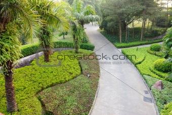 Road in garden
