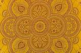 Oriental ornamented textile