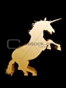 3d unicorn symbol