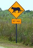 Florida Panthers Highway Sign