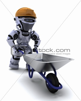 robot Builder with a wheel barrow