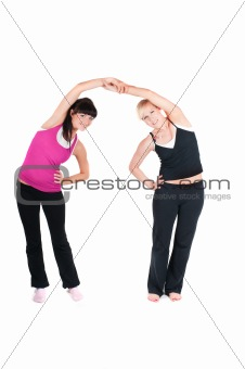 Fitness instructors  isolated on white