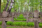 military graveyard in warsaw poland