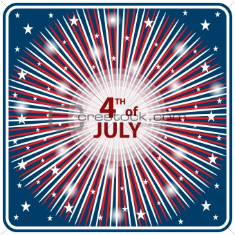 4th July independence day starburst