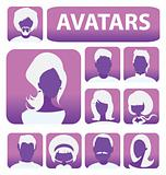 vector people avatars or user profiles