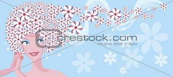 Beauty chamomile girl  banner