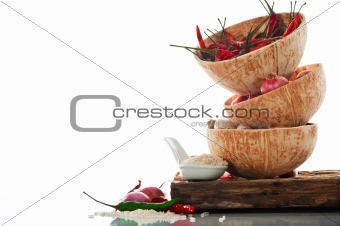 Spicy Asian cooking ingredients