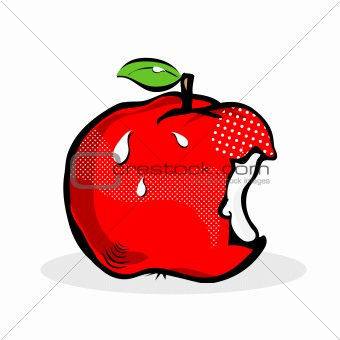 Apple Pop Art Comic style / apple fruit design