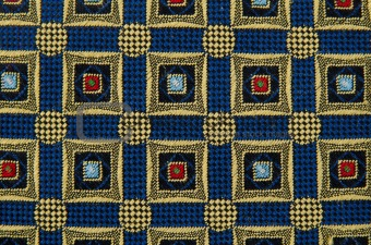 Abstract pattern ornamented textile