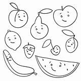 Hand drawn fruits isolated