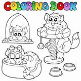 Coloring book with various cats 1